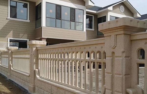水泥院墙栏杆