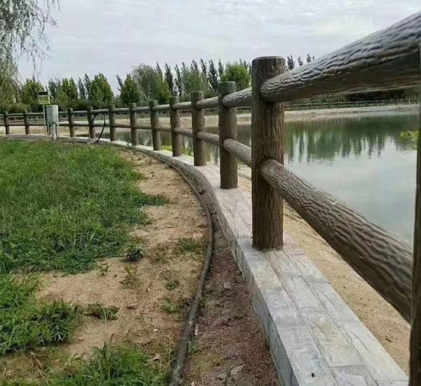 水泥仿树围栏
