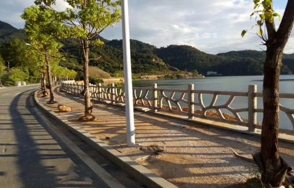 湖边防树栏杆