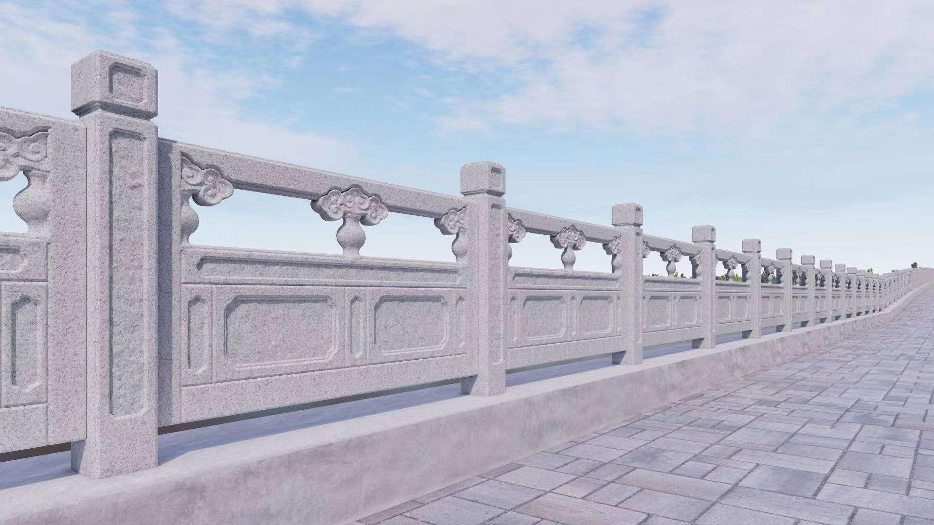 祥云如意河堤护栏