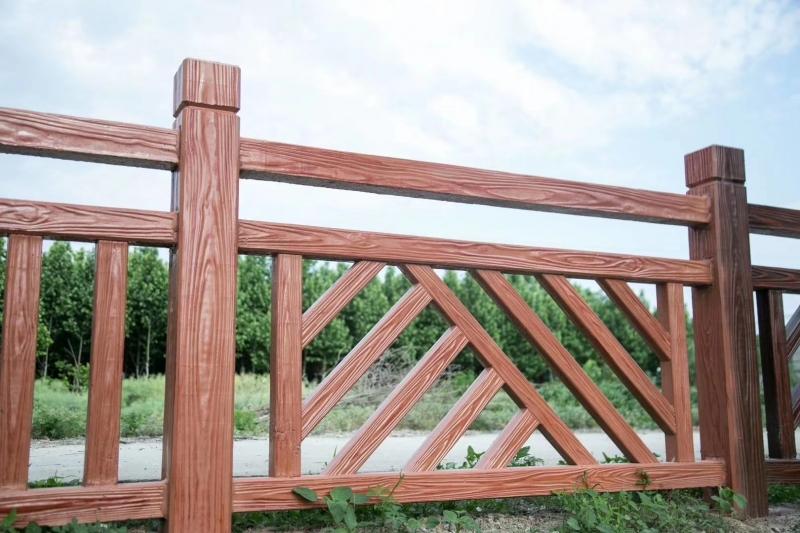 仿木栏杆安装后期的喷漆技巧有哪些